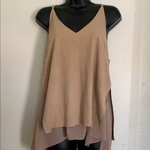 Strappy textured layered tank